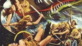 Las mujeres vikingo y la serpiente del mar