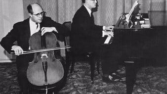 Rostropóvitx i Richter interpreten a Beethoven