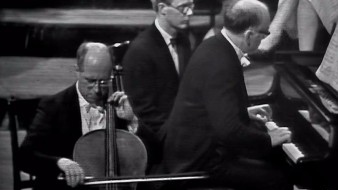 Rostropóvitx i Richter interpreten Prokófiev