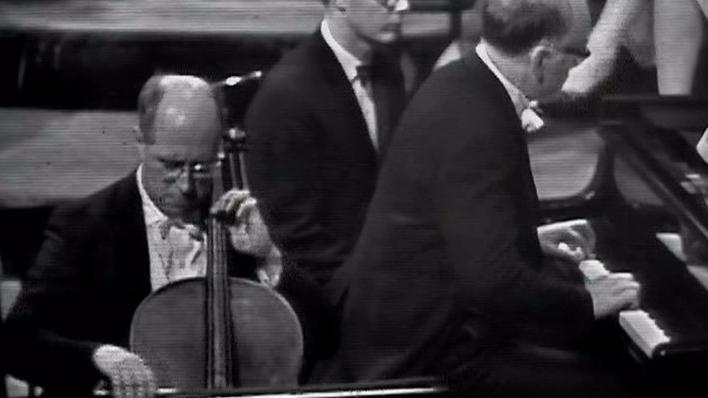 Rostropovich y Richter interpretan a Prokófiev