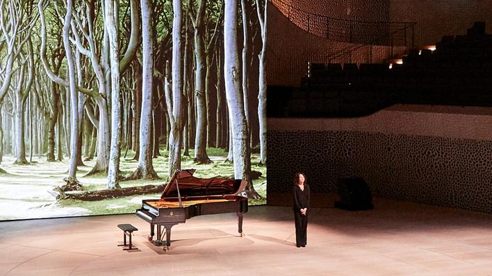 Grimaud, recital romántico
