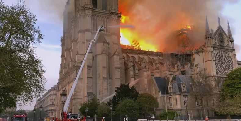 El incendio de Notre Dame