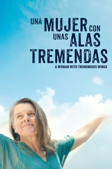 Una mujer con unas alas tremendas